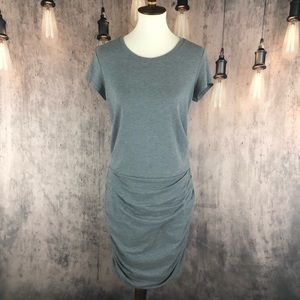 Athleta Crew Neck Topanga Gray Tee Shirt Dress M